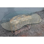 Image of Mid-Century Kidney Shaped Tessellated Stone Coffee Table