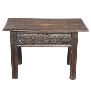 Dark Oak Carved Coffee Table