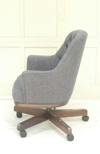 Chesterfield Esque Tufted Wool Office Chair   Image 3 Of 4