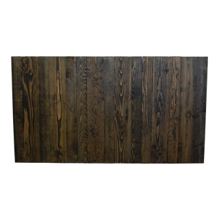 Queen Size Hanger Barn Walls Headboard in an Ebony Stain