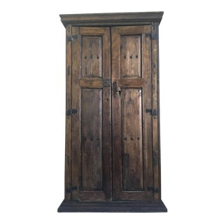 Antique Rustic Style Armoire