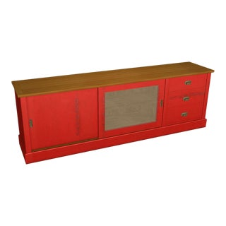 Atelier Modern Red Low Cabinet