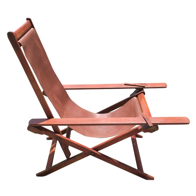 Antique Ocean Liner Folding Deck Chair - Image 1 of 11