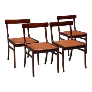 Ole Wanscher Mahogany Rungstedlund Dining Chairs - Set of 4