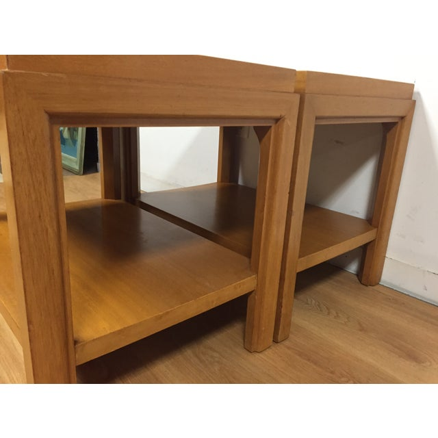 Image of Edward Wormley Style End Tables - A Pair
