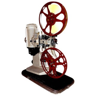 16mm Vintage Movie Projector Circa 1940. Rare Sculpture Piece For Media Room Display.