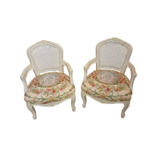 French Style Children's Arm Chairs - Pair