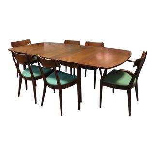 Mid-Century Kipp Stewart Walnut Dining Set