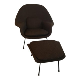 Knoll Womb Chair & Ottoman - A Pair