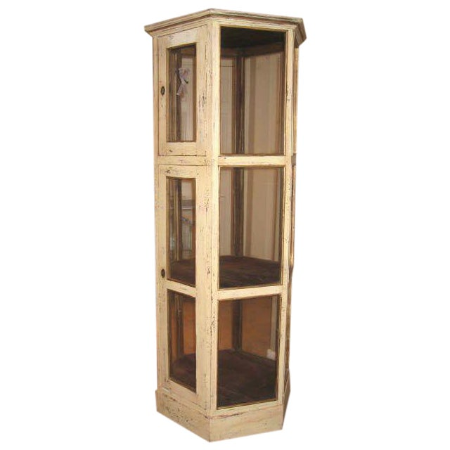 Pine Wood Curio Display Cabinet - Image 1 of 7
