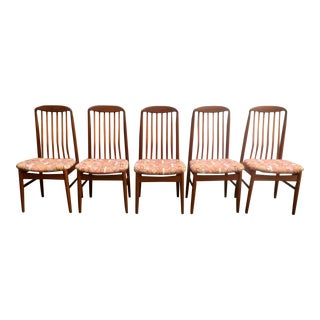 Set of 5 Benny Linden Solid Teak Dining Chairs