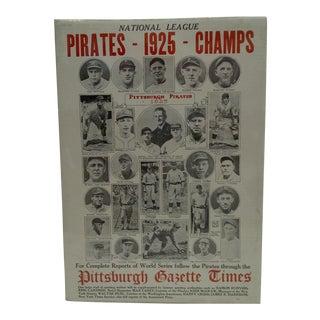 1925 Pittsburgh Pirates Baseball Poster