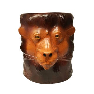 Embossed Lion Leather Table