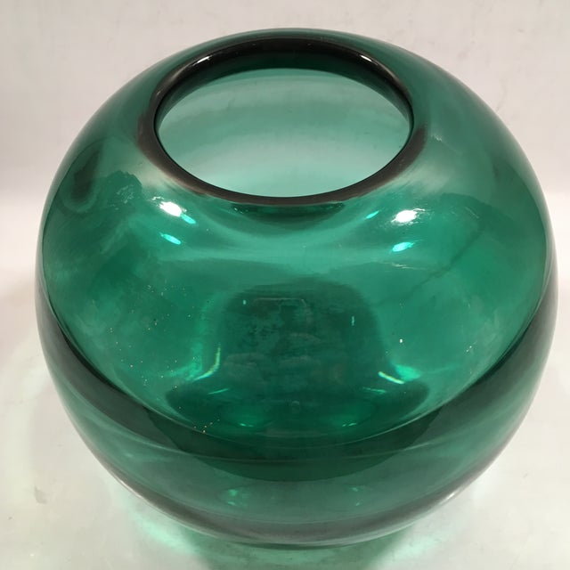 Art Deco Orrefors Optic Ribbed Vase by Edward Hald - Image 4 of 8