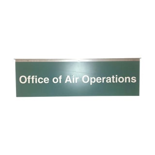 Industrial Military Sign Air Operations 1970s