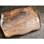 Image of Antique English Sheffield Silver Gallery Tray