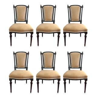 Linen Upholstered Dining Chairs - Set of 6