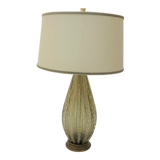 Vintage Murano Gold Bubble Table Lamp