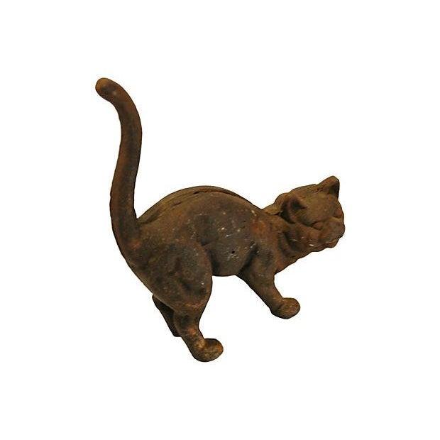 Image of Vintage Cast Iron Cat Doorstop