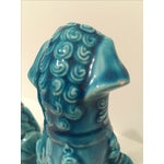 Image of Turquoise Vintage Foo Dogs - A Pair