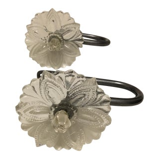Antique Flower Shaped Hooks - A Pair