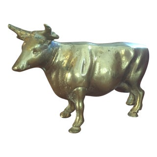 Mid Century Solid Brass Western Bull or Cow