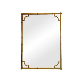 Gilded 1960s Faux Bamboo Mirror
