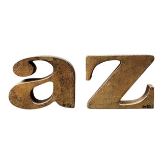 Curtis Jere 'a & z' Bookends - A Pair