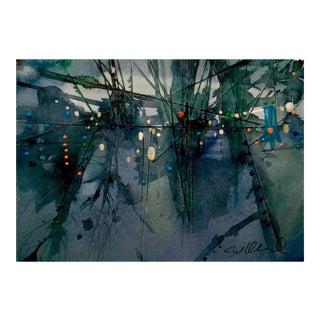 """Brambles Before the City"" Original Watercolor Painting"