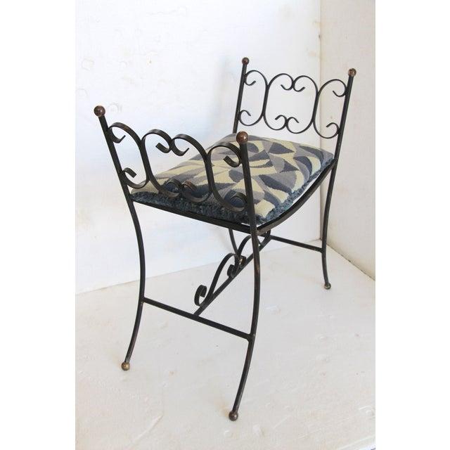 1960s Arthur Umanoff Style Iron Bench - Image 5 of 6
