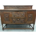 Image of Antique Carved Wood Buffet