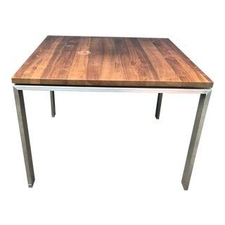 Vintage Steel Legs Industrial Dining Table