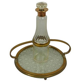 1900's Vinegar Carafe & Antique Tray