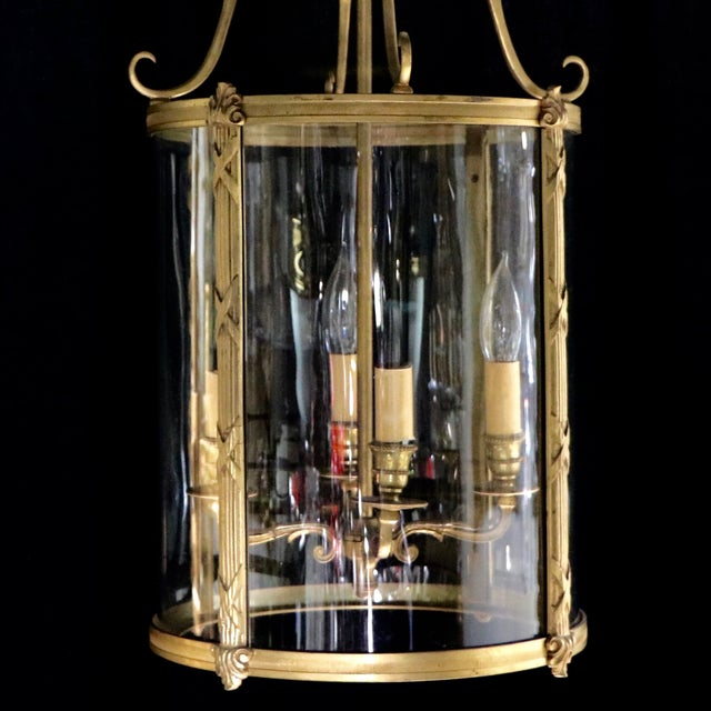 French Style Glass Hanging Lamp - Image 6 of 7