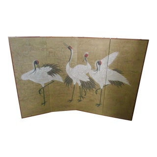 Asian Modern Chinoiserie Folding Screen