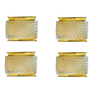 2 pairs of kalmar Murano glass mid century modern sconces