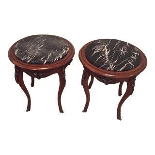 Antique French Side Tables - A Pair
