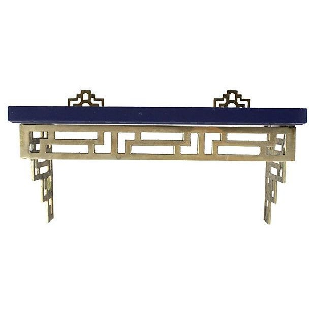 Chinoiserie Brass Wall Shelves - A Pair - Image 4 of 6