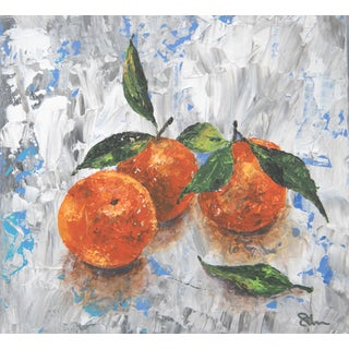 Oranges Still Life Fruit Painting by C. Plowden