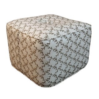 Embroidered Cube Ottoman