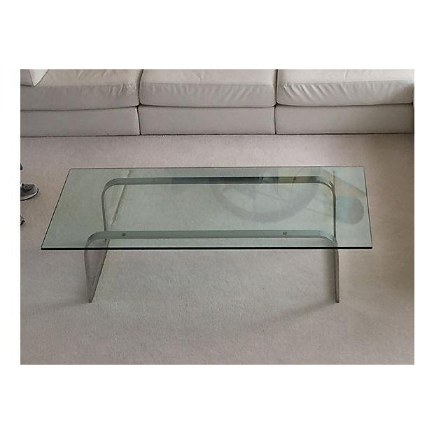 Image of Chrome and Glass Coffee Table