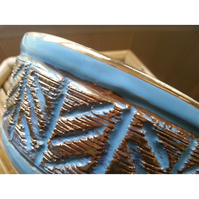 Vintage Italian Blue & Gold Footed Bowl - Image 6 of 8