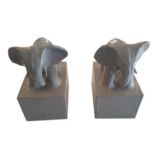 Stray Dog Designs Elephant Bookends - A Pair