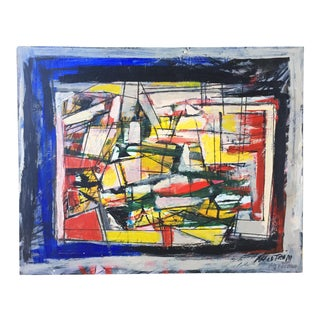 Ronald Ahlstrom Modernist Abstract Painting