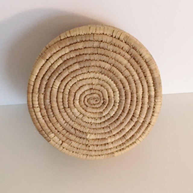Vintage Boho Chic Hand Woven Basket - Image 5 of 7
