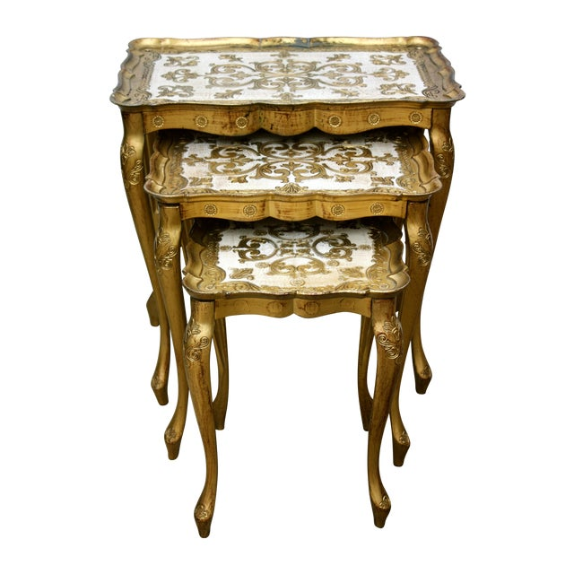 Vintage Florentine Nesting Tables - Set of 3 - Image 1 of 5
