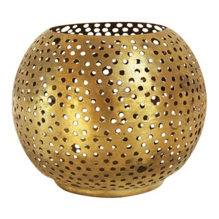 Small Brass Ball Candle Holder