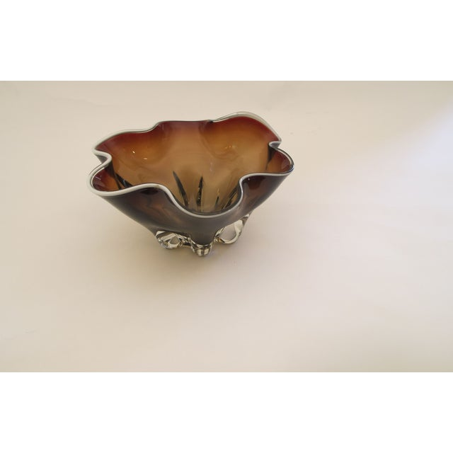 Hand Molded Glass Bowl - Image 3 of 5