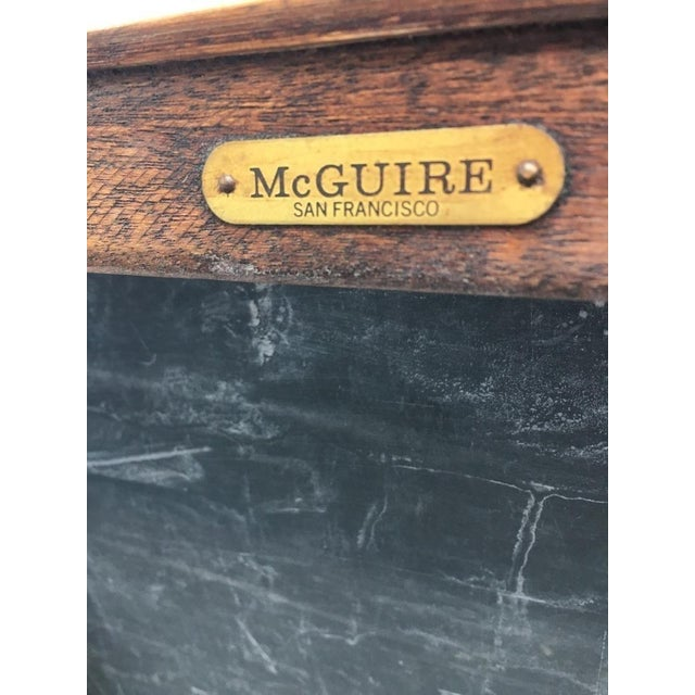 McGuire San Francisco Carved Wood Console Table - Image 5 of 6