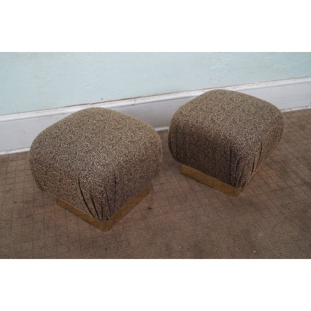 Image of Karl Springer-Style Soufflé Ottomans - A Pair